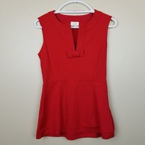 Kate Spade Red Peplum Top size 6